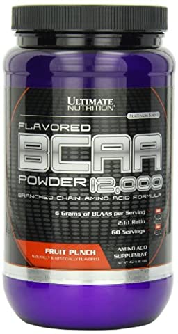 Ultimate Nutrition BCAA 12000 Powder Flav Tailored Fruit Punch Flavour 16 Oz