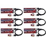DIGITALKEY Riser USB V007-S Ver. SATA PCI-E 1x auf 16x USB 3.0 Verlängerungskabel für Mining Rig Bitcoin und Andere x6 V007-S