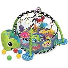 Croissant con Moi 3en 1actividades bebés Gym alfombra de juego & Ball fosa con malla Cotés
