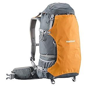 Mantona ElementsPro 40 Profi-Outdoor-Rucksack für DSLR- oder CSC-Kamera orange (inkl. Regenhülle)