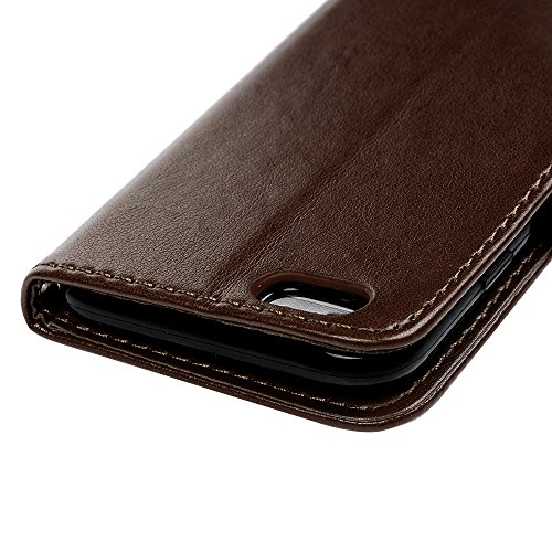 Lanveni Iphone 6S Iphone 6G 3 en 1 Coque de Protection - Housse Étui en [PU Cuir][Portefeuille Support Flip][Fermeture Aimantée] Phone Case pour Iphone 6S Iphone 6G +[Stylo Capacitif]+[Film de Protect Café