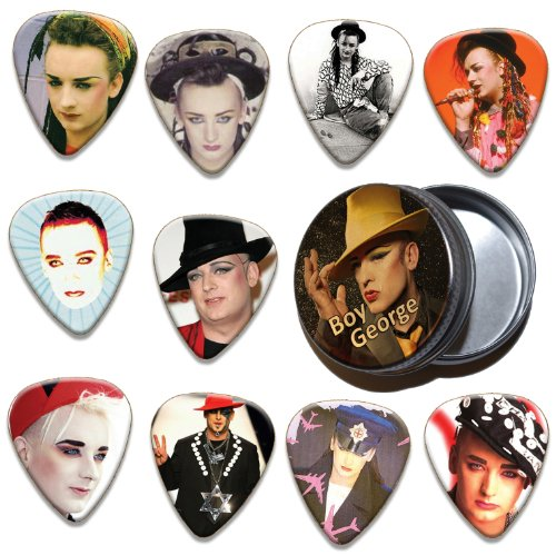 Boy George 10 X Guitar Picks & Tin ( Ltd. To 100 )