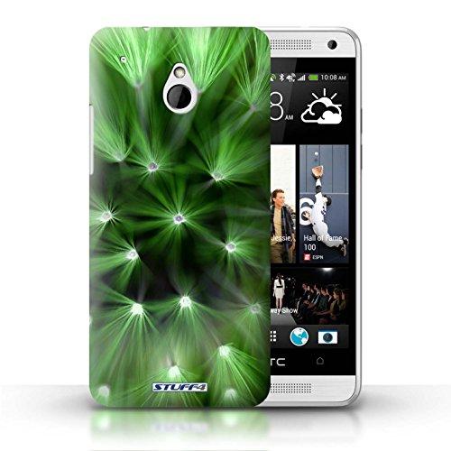 Kobalt® Imprimé Etui / Coque pour HTC One/1 Mini / Jaune conception / Série Couleur/Lumière Fleur Vert