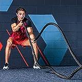 METIS 9M, 12M & 15M Battle Rope - 38mm & 50mm Diktes   Hoogkwalitatieve Gewogen Fitnesstouwen Voor Krachttraining, CrossFit,