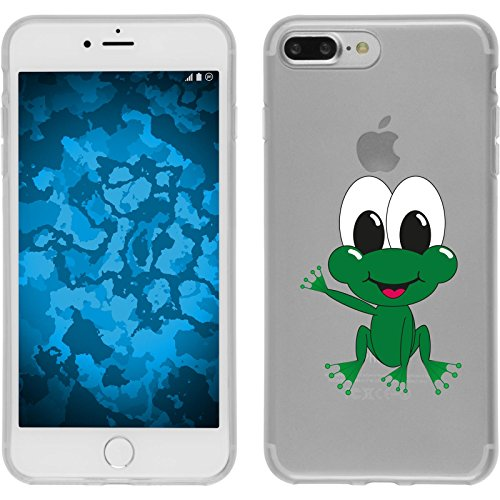 PhoneNatic Case für Apple iPhone 7 Plus Silikon-Hülle Cutiemals M5 Case iPhone 7 Plus Tasche + 2 Schutzfolien Motiv 2