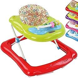 Infantastic® - Andador para bebés regulable en altura con juguetes y sonido - color rojo