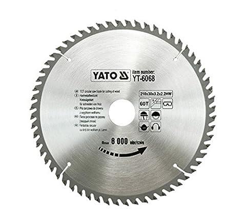 Yato Professional YT-6068 - Carbide Tipped Circular Saw blade 210 x 60 x 30 mm