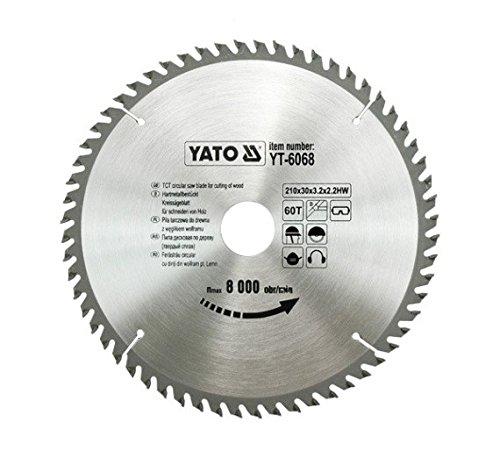 Yato YT–6068HM-bestücktes Kreissägeblatt 210x 60x 30mm