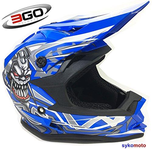 3GO-X10-K-KINDER-BERHMT-SCHDEL-ENTWURF-JUNGEN-UND-MDCHEN-ENFANTS-MOTOCROSS-QUAD-ATV-DIRT-OFF-ROAD-MOTORRADHELME-BLAU