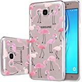 "Galaxy J3 (2016) Funda , ivencase Transparente Silicona TPU de Flexibilidad Carcasa Case Bumper Ultra Delgado Espalda Case Cover para Samsung Galaxy J3 (2015)/(2016) 5.0"""