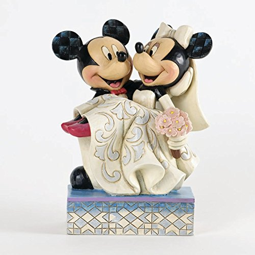 (Disney Traditions 4033282 Mickey und Minnie Hochzeitsfigur, 17,0 cm)