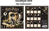 Harry Potter Official CALENDRIER 2019 + Harry Potter AIMANT DE RÉFRIGÉRATEUR