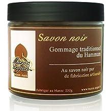 Exfoliante tradicional de jabón negro 100% natural 250g