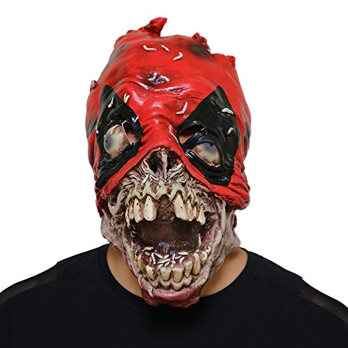 Halloween-Maske, Halloween-Kostüm Horror-Deadpool-Latex-Maske, Horror-Ghost Beängstigend, Prank-Maske Face Scary Party, Bar-Requisiten, Maskerade