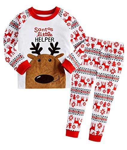 Little Hand Jungen Zweiteiliger Schlafanzug Baumwolle Lange Nachtwäsche Tier Dino Kinder Pyjama, Rot, 5-6 Jahre