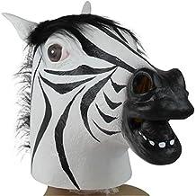 MissFox Halloween Cosplay Máscara Zebra Cabeza Disfraz Fiesta Máscara Como Cuadro