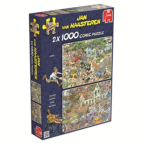 Jumbo - Puzzle Safari & Storm, 2 x 1000 Piezas (619001)