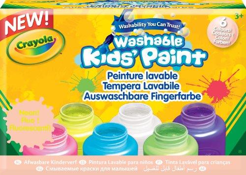 Crayola 54-2391 - Set 6 Tempere Neon (Pittura Per Il Viso Disegni)