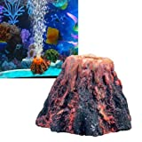 Decoro decorazione ornamento acquario VULCANO bolle ossigeno 7x7x5cm