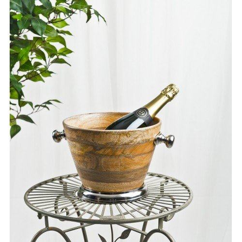 Stylisches Holz Ice Bucket ? Prosecco Chiller