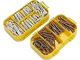 Extol craft 1445 - Tornillos de madera dimensiones con tacos, 4, establecen 170 piezas,