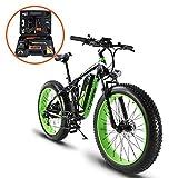 Etrbici XF800 E-Bike Mountainbike ,1000W, 48V 13Ah 624Wh Akku,Elektrofahrrad 26 Zoll,Shimano 7 Gang-Schaltung, Hydraulische Bremsen, Akku mit USB-Ladeanschluss