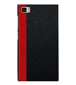 PrintVisa Red Stripes Design 3D Hard Polycarbonate Designer Back Case Cover for Xiaomi Redmi Mi3