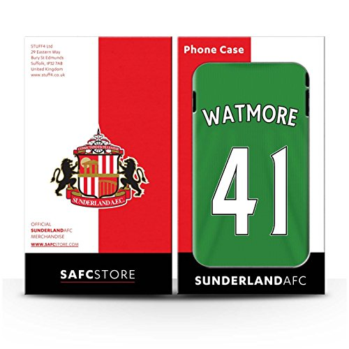 Offiziell Sunderland AFC Hülle / Gel TPU Case für Apple iPhone 4/4S / Pack 24pcs Muster / SAFC Trikot Away 15/16 Kollektion Watmore