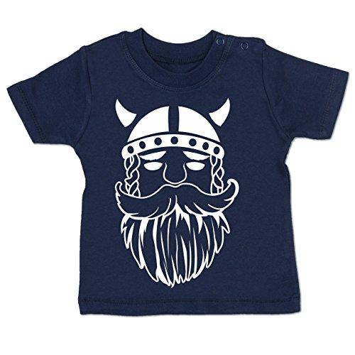 (Bunt gemischt Baby - Wikinger - 18-24 Monate - Navy Blau - BZ02 - Baby T-Shirt Kurzarm)