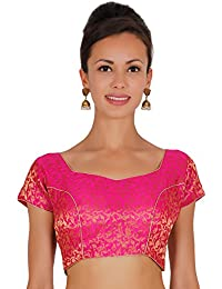 ND&R Printed chanderi blouse single piece