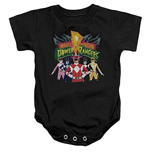 Power Rangers - - Rangers Toddler Unite Onesie, 6 Months, Black