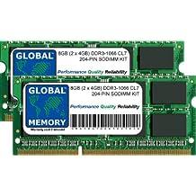 8GB (2 x 4GB) DDR3 1066MHz PC3-8500 204-PIN SODIMM MEMORIA RAM KIT PARA IMAC (PRINCIPIOS DE/MEDIADOS/FINALES DE 2009 - MID 2010) & INTEL MAC MINI (PRINCIPIOS DE/MEDIADOS/FINALES DE 2009 - MEDIADOS 2010)