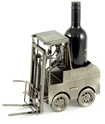 Flaschenhalter Metall Gabelstapler Stapler mit Fahrer Flaschenständer