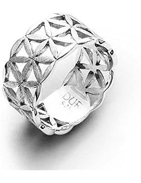 DUR: breiter Lebensblumen-Bandring, Sterling-Silber 925