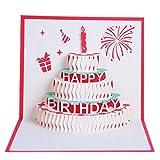 Demino Alles Gute zum Geburtstag, Postkarten, Gruß Geschenkkarten Blank Gute zum Paper 3D Handmade...