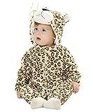 Bebé Ropa Disfraces Franela Traje Animales Pelele Unisexo Disfraz Invierno Kigurumi (Leopardo, 80 cm (100))