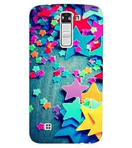 Chiraiyaa Designer Printed Premium Back Cover Case for LG K10 LTE (stars pattern colorful) (Multicolor)