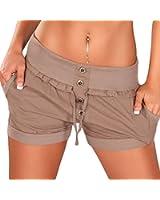 Damen Shorts, kurze Hose mit Einschubtaschen in Einheitsgröße (34 bis 40)