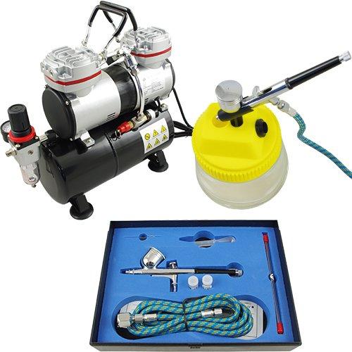 Aerógrafo compresor Set Completo pistola & set limpieza