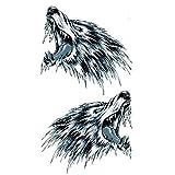 Adhesivo de Halloween para adultos 2feroz lobo cabeza realista y no tóxica pegatinas de...