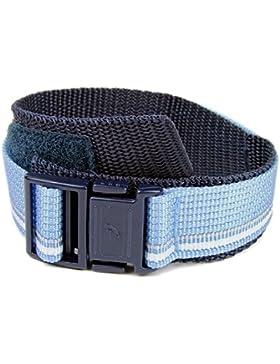 Casio BG-166V 20mm Ersatzband Uhrenarmband Textilband Klettband blau