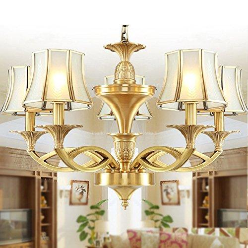 Preisvergleich Produktbild XW Lampe von Kupfer volle der lampe des Pendelleuchte des Wohnzimmer der lampe der Decke der Badezimmer-von Kupfer Pura LED Beleuchtung der Lampe von Kupfer 5 testa