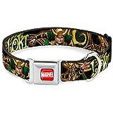 Buckle Down 22,9–38,1cm Marvel Universe Loki Posen schwarz/Gold/grün Hundehalsband
