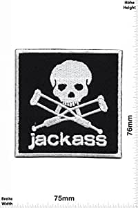 Patches - Jackass - Movie Game Patches - Cartoon - Comic - Vest - Iron on Patch - Applique embroidery Écusson brodé Costume Cadeau- Give Away