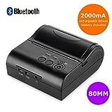 FLOUREON zj-8001ld 80mm POS Drucker Bluetooth Wireless Thermo-Bondrucker ESC Mini USB Notebook, Schwarz