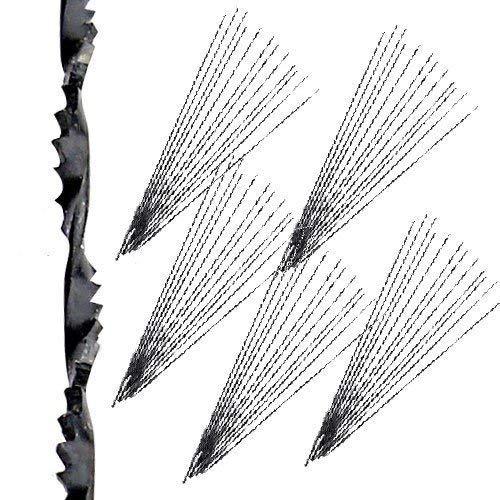 """60 Olson 5/"""" Fabriqué en Allemagne 130 mm//41TPI spirale Scroll Saw Lames Droites"""