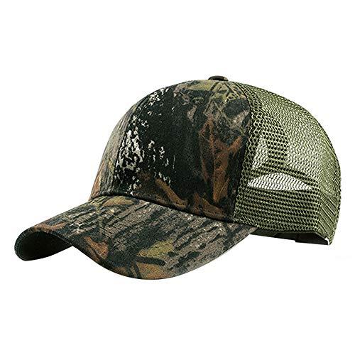 Demarkt Baseball Kappe Camouflage Unisex Baseball Cap Kappe Einstellbar Basecap, können für Outdoor-Aktivitäten Wie Angeln, Camping und Jagd Verwendet Werden Size 55-60cm (A)