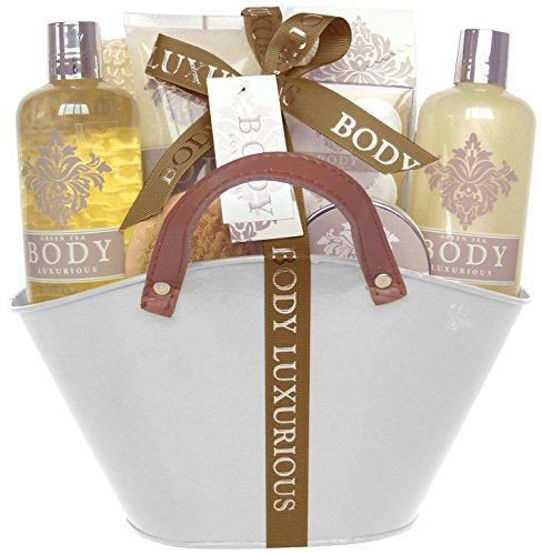 Gloss, Set da regalo con prodotti da bagno Body Luxurious, aroma: Noce di cocco, 13 pz.