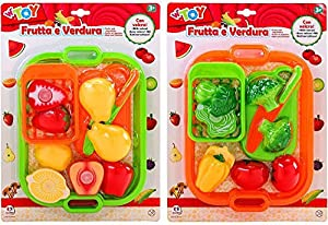 GLOBO- Fruit and Vegetables W/Velcro 2Ass. (38124), (1)