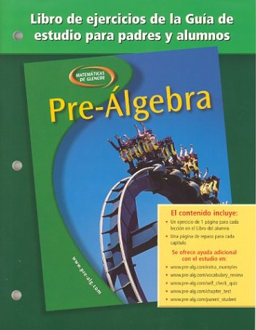Pre-Algebra, Spanish Parent and Student Study Guide Workbook por McGraw-Hill